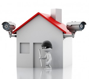 CCTVSouth House with security CCTV camera.